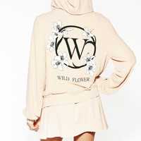 WILD FLOWER GIRL MALIBU ZIP UP at Wildfox Couture in  BABY, PUNCH DRUNK