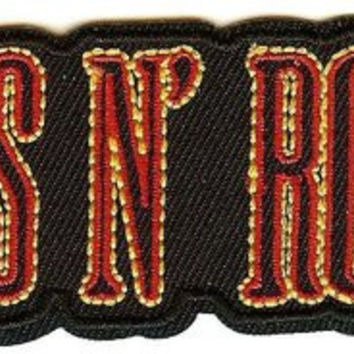 Guns n' Roses Iron-On Patch Letters Logo