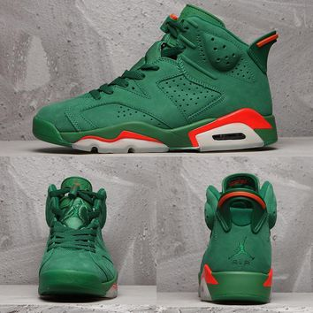 Air Jordan 6 Retro Gatorade Like Mike Nrg Green Suede Aj6 Sneakers