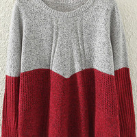 Red Ruched Sweater