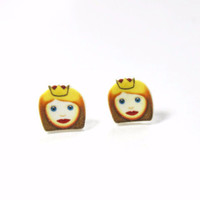 Princess Emoji Stud Earrings