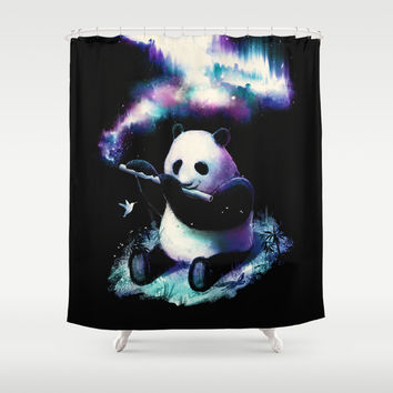 Music Is My Universe Shower Curtain by Nicebleed