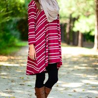 Easy Love Tunic, Burgundy