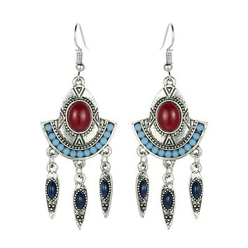 Bohemia Tassel Leaves Fashion Earrings