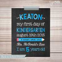 Last day of School Sign, First day of school sign, Back to School Poster, First day of First Grade chalkboard sign, Last day of school
