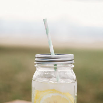 16oz Mason Jar Tumbler PICK YOUR STRAW, cup, wedding gift, party, sun, travel cup