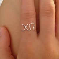 Sorority Wire Ring Chi Omega CHIO Greek Letters Fraternity FREE SHIPPING