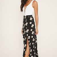 Floral Side-Slit Maxi Skirt | Forever 21 - 2000185978
