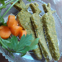 Carrot Craze Treats by LSM Creation- Kale, Parsley and Carrot, Bunny and Guinea Pig Treats