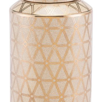 Link Covered Jar Md Gold And Yellow