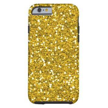 Sparkly And Shiny Gold Glitter Tough iPhone 6 Case