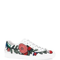 GucciNew Ace Embroidered Lace Up Sneakers