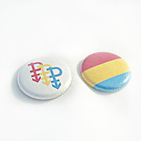 Pansexual Pride Buttons - Pan PRIDE flag button