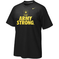 Army Black Knights Nike Mllitary Legend Performance T-Shirt – Black/Gold