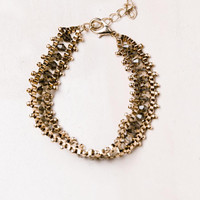 Faux Gem Chain Bracelet