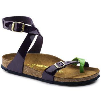 Sale Birkenstock Yara Birko Flor Tropical Green Lilac 1004057 Sandals