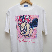 25% OFF Vintage MINNIE MOUSE T Shirt White Size M