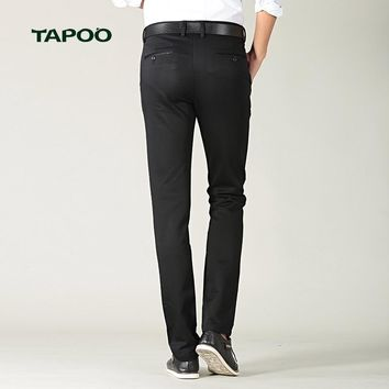 Fashion New High Quality Cotton Men Pants Straight Spring and Summer Long Male Classic Business Casual Trousers Full Length Mid8