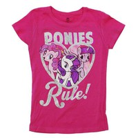 ONETOW My Little Pony - Ponies Rule Girls Youth T-Shirt