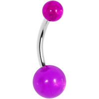 BELLY - 7/16 MAGENTA MAGIC Banana Belly Ring | Body Candy Body Jewelry