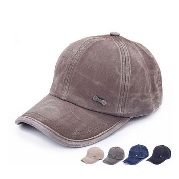 Unisex Washed Denim Hip Hop Street Baseball Cap Hat