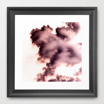 Smoke chemical Framed Art Print by VanessaGF