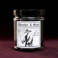 THE BLACK DEATH, Soy Blend Candle, 8oz Jar