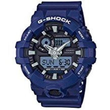 Casio Men's 'G SHOCK' Quartz Resin Casual Watch, Color:Blue (Model: GA-700-2ACR)