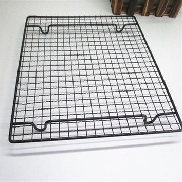Nonstick Metal Cake Cooling Rack Net Cookies Biscuits Bread Muffins Drying Stand Cooler Holder Kitchen Baking Tools