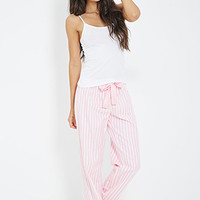 FOREVER 21 Striped Flannel PJ Pants