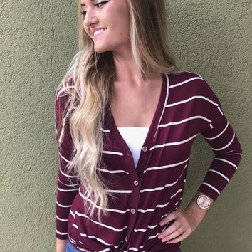 Gorgeous In Garnet Top - Burgandy