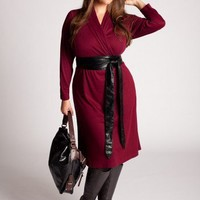 Plus Size Prague Dress in Wine by IGIGI
