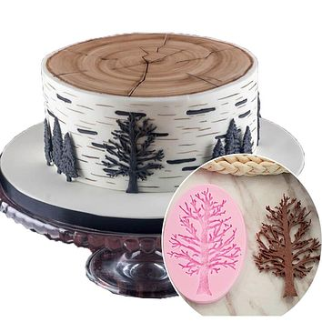 Tree Branches Cake Border Silicone Molds Cupcake Fondant Decorating pastry Tools Candy Chocolate Decor Moulds Kitchen Baking