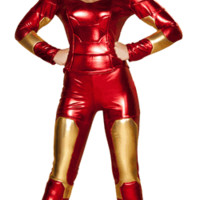 Sexy Avengers Iron Man Hero Girl Suit Halloween Costume