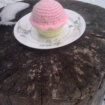 Pastel color Amigurumi Cupcake by OwlPudding on Etsy