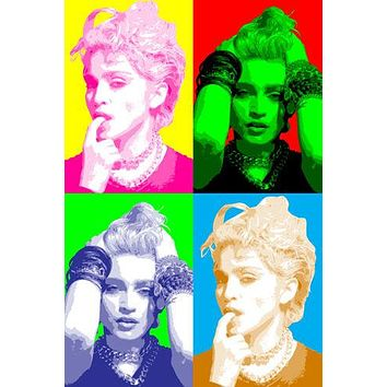 MADONNA celebrity SINGER pop art poster MULTIPLE IMAGES 24X36 art SEXY