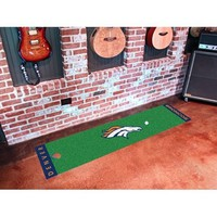 Fanmats Denver Broncos Nfl Putting Green Runner 18x72
