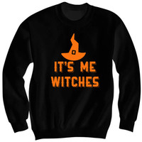 Halloween Costume It's Me Witches Sweatshirt #Halloween Cheap Costumes #Witch #Witches Ladies Shirt Unisex Top Funny Shirts Costume Party All Ages from CELEBRITY COTTON