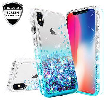 Apple iPhone XR Case Liquid Glitter Phone Case Waterfall Floatin 399d3d9b7