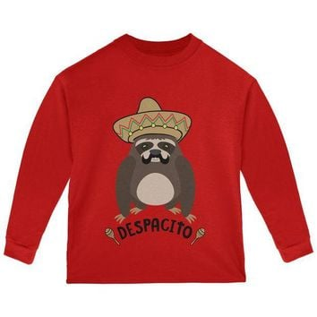 LMFCY8 Despacito Means Slowly Funny Sloth Pun Toddler Long Sleeve T Shirt