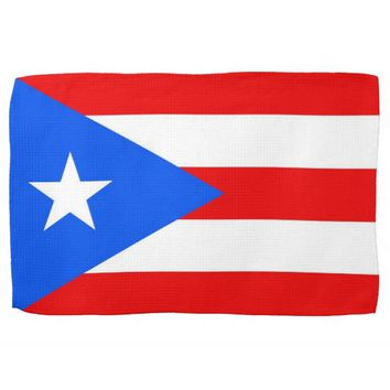 Kitchen towel with Flag of Puerto Rico, U.S.A.