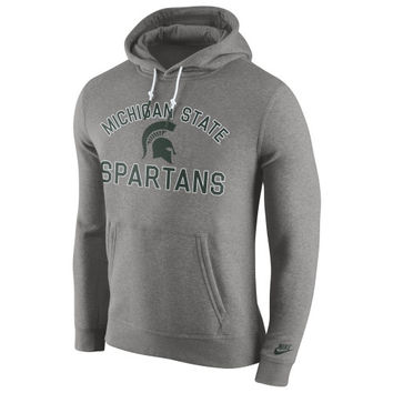 Michigan State Spartans Nike Club Rewind Hoodie – Gray
