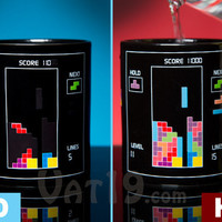 Tetris Heat Change Mug: Board changes when hot liquids added.