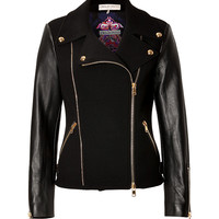 Emilio Pucci - Stretch Wool/Leather Biker Jacket