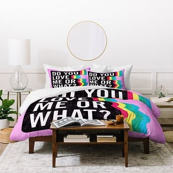 Leeana Benson Do You Love Me Duvet Cover