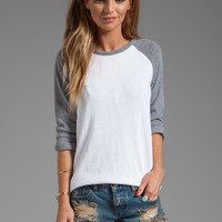 MONROW Rock Fleece Sweatshirt in White from REVOLVEclothing.com