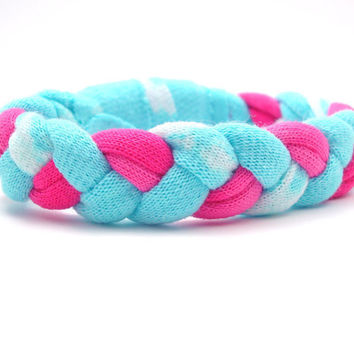 Blue and Pink Bracelet by AmeliaandtheOx
