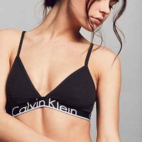 Calvin Klein ID Cotton Wide Band Triangle Bra - Urban Outfitters