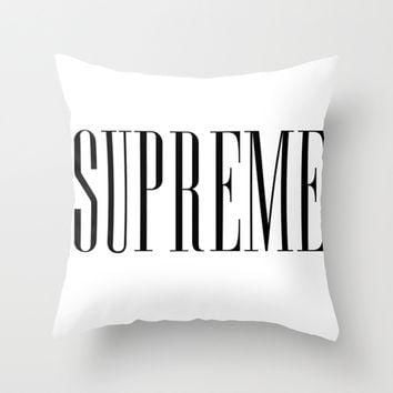 American Horror Story Supreme Throw Pillow by NameGame