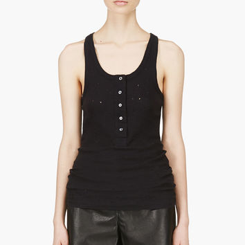 Iro Black Distressed Edda Tank Top